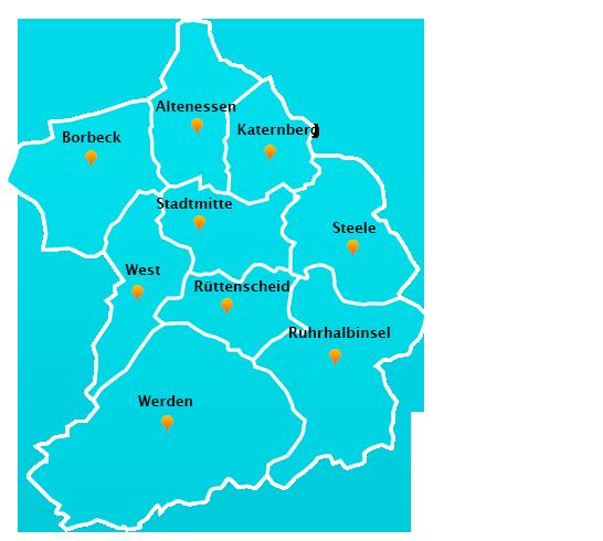 Wuppertal Karte Stadtteile.Fensterreinigungs Touren In Essen Fensterreinigung