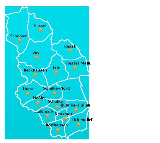 Wuppertal Karte Stadtteile.Fensterreinigungs Touren In Gelsenkirchen Fensterreinigung