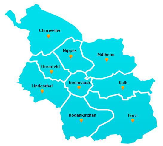 Wuppertal Karte Stadtteile.Fensterreinigungs Touren In Koln Fensterreinigung